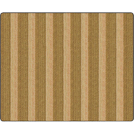 Flagship Carpets Basketweave Stripes Classroom Rug, 10 1/2' x 13 3/16', Brown