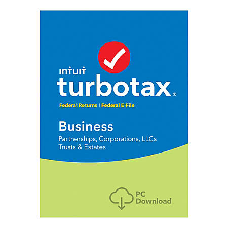 TurboTax Business Fed + E-File 2018, For Windows, Download Version