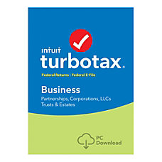 TurboTax Business Fed E File 2018