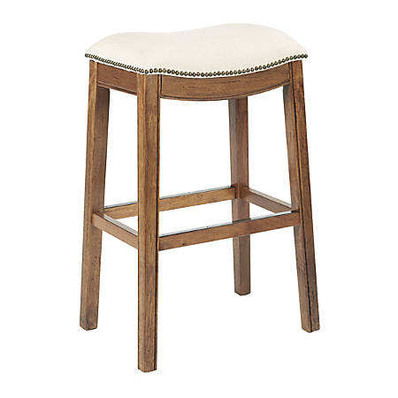 Ave Six Austin Barstool, Linen/Mocha/Antique Bronze