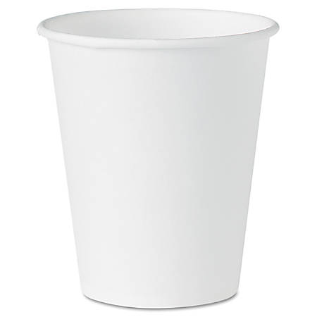 Solo® White Paper Water Cups, 4 Oz, Box Of 5,000