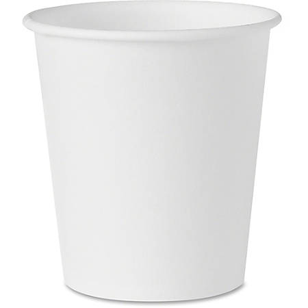 Solo Treated Paper Water Cups - 3 fl oz - 100 / Pack - White - Paper - Water