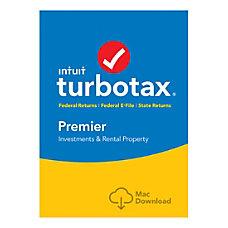 TurboTax Premier Fed Efile State 2018