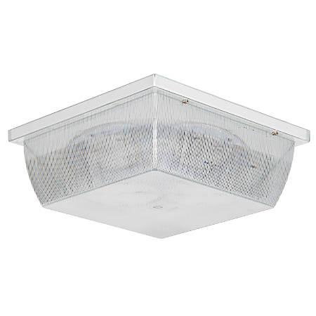 "Luminance LED Square Ceiling Mount Fixture, 10"", 12 Watts, 4000K/Cool White, 870 Lumen, White/Clear prismatic lens"