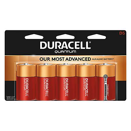 Duracell® Quantum Alkaline D Batteries, Pack Of 5