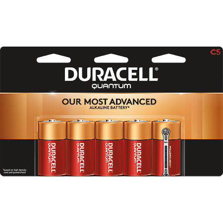 Duracell® Quantum Alkaline C Batteries, Pack Of 5