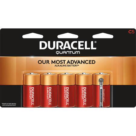 Duracell® Quantum Alkaline C Batteries, Pack Of 5