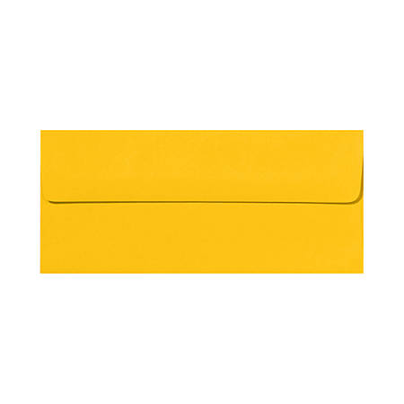 """LUX Envelopes With Peel & Press Closure, #10, 4 1/8"""" x 9 1/2"""", Sunflower Yellow, Pack Of 1,000"""
