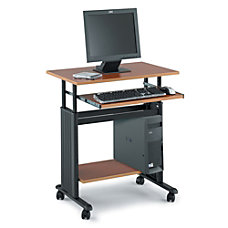Safco Muv Adjustable Height Workstation BlackOak