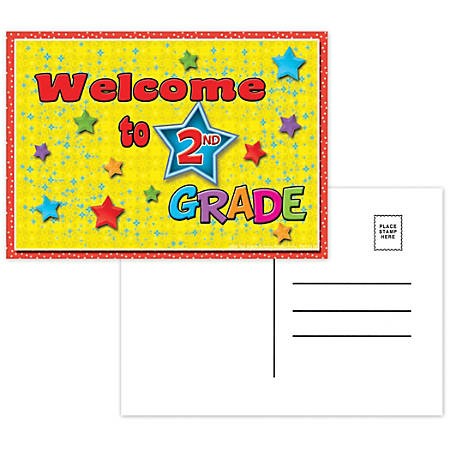 "Top Notch Teacher Products Welcome To 2nd Grade Postcards, 4 1/2"" x 6"", Multicolor, 30 Postcards Per Pack, Bundle Of 12 Packs"