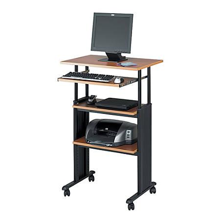 Safco® Muv™ Adjustable Stand-Up Workstation, Black/Oak