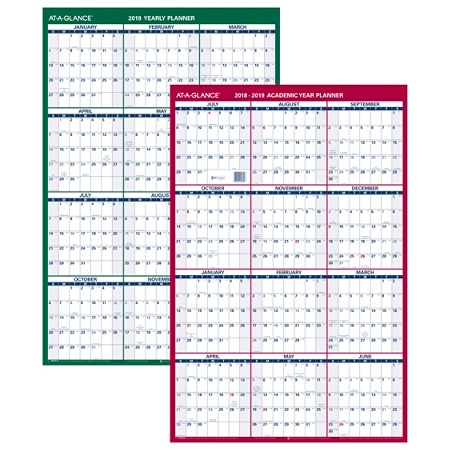 at a glance vertical yearly erasable wall calendar 24 x 36 white by