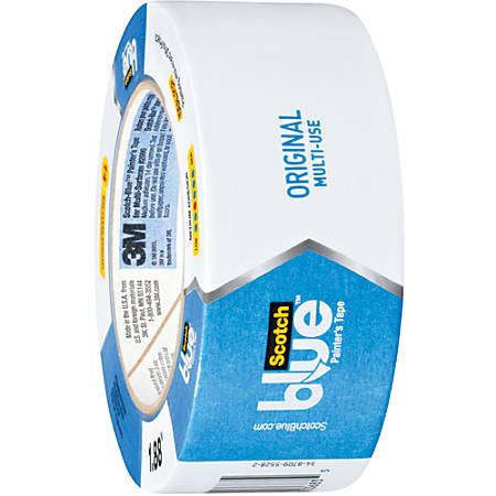 "Scotch® 2090 Long Mask™ Weatherable Masking Tape, 3"" Core, 2"" x 60 Yd., Blue, Case Of 12"