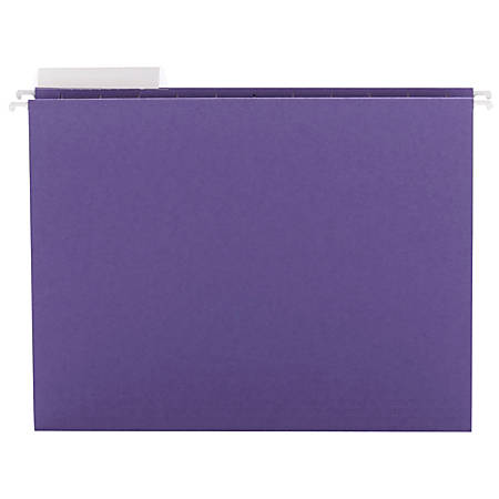 "Smead® Colored Hanging Folders, 8 1/2"" x 11"", 10% Recycled, Purple, Box Of 25"
