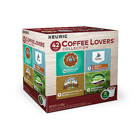 Green Mountain Coffee® Coffee Lovers Single-Serve K-Cup® Variety Pack, 1 Oz, Carton Of 42
