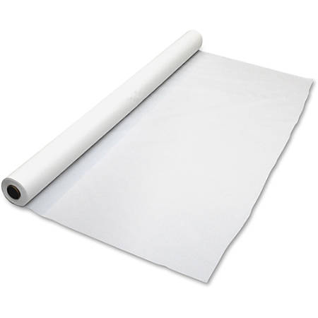 "Table-Mate Table Set Plastic Banquet Roll, Rectangular, 40"" x 100', White"