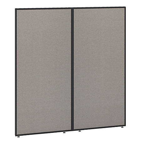 "Bush Business Furniture ProPanels 66""H Office Partition, 60""W, Light Gray/Slate, Standard Delivery"