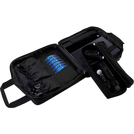 """CTA Digital Multi Function Carry Case for Ps4 & Ps3 - Nylon, Foam Interior - Shoulder Strap - 14.3"""" Height x 12.3"""" Width x 6.5"""" Depth"""