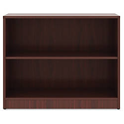 Lorell Mahogany Laminate Bookcase 295 Height