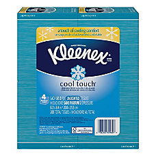 Kleenex Cool Touch Facial Tissues Blue