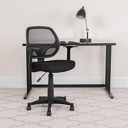 Flash Furniture Mesh Mid-Back Swivel Task Chair, Black