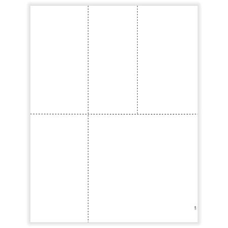 "ComplyRight™ 1099/W-2 Blank Tax Forms, Laser Cut, 4-Up, 8-1/2"" x 11"", Pack Of 50 Forms"