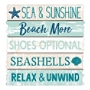 "Amscan Large Beach Sign, 15-1/2""H x 15""W, Multicolor"