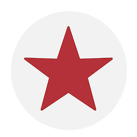 Accustamp® Pre-Inked Round Stamp, Star, Red