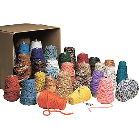 "Pacon® Yarn Value Box, 20-1/16""H x 15-1/4""W x 9-1/4""D, Assorted Colors"