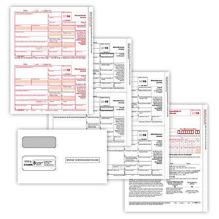 """ComplyRight™ 1099-MISC Tax Forms, 3-Part, 8-1/2"""" x 11"""", Pack Of 50 Forms And Envelopes"""