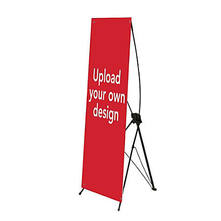 Custom Vertical Polypropylene Display Banner, Upload Your Own