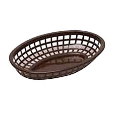 Tablecraft Oval Plastic Side Order Baskets