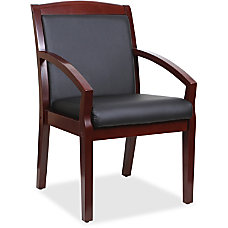 Lorell Sloping Arms Bonded Leather Wood