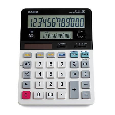 Casio® DV-220 Dual-Display Desktop Calculator