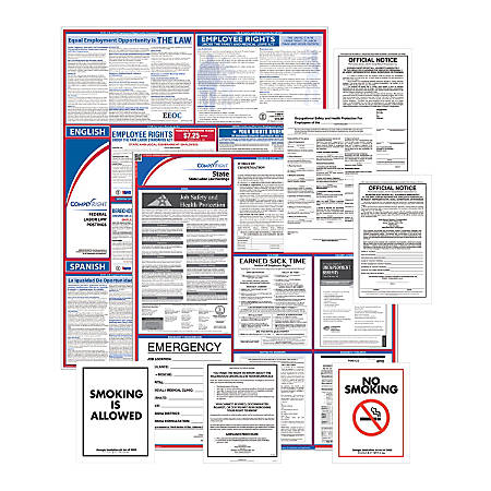 ComplyRight Federal, State And Public Sector Poster Set, Bilingual/English, Texas