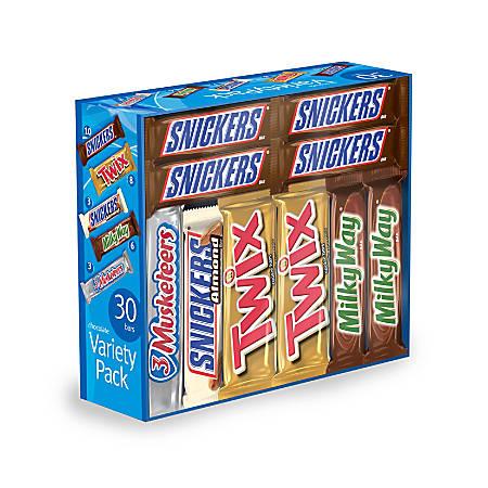 Mars Chocolate Bars, Variety Pack Of 30