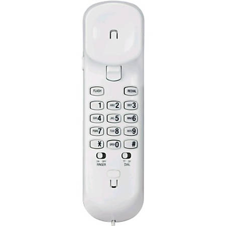 VTech CD1103 Trimstyle Phone, White - 1 x Phone Line