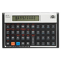 HP 12C Financial Calculator Platinum Edition