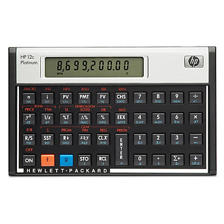 HP 12C Financial Calculator, Platinum Edition