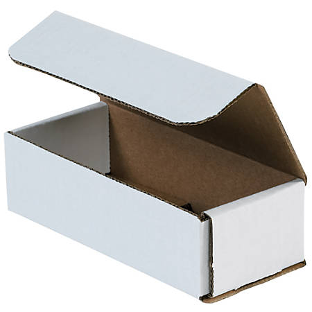 "Office Depot® Brand 8"" Corrugated Mailers, 4""H x 5""W x 9""D, White, Pack Of 50"