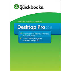 QuickBooks Desktop Pro 2018 Traditional Disc