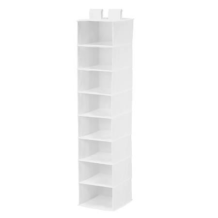 "Honey-Can-Do 8-Shelf Hanging Vertical Closet Organizer, 54""H x 12""W x 12""D, White"