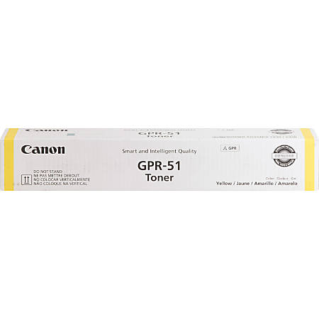 Canon GPR-51 Original Toner Cartridge - Yellow - Laser - 21500 Pages - 1 Each