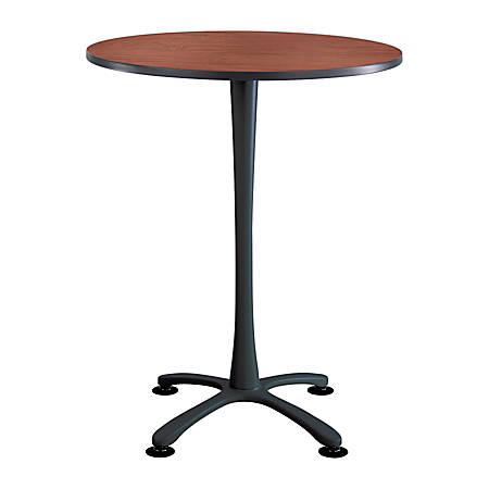 Safco® Cha-Cha X-Base Bistro-Height Table, Cherry/Black