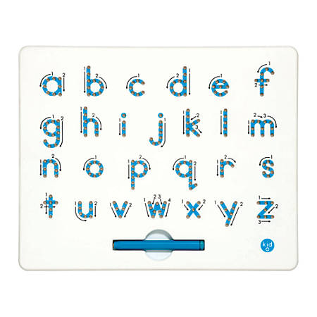 "Kid O Products A-To-Z Magnatab Board, Lowercase, 13/16""H x 10""W x 12""D, Pre-K - Grade 2."