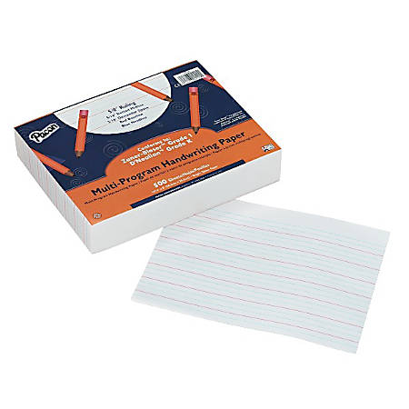"Pacon Multi-Program Handwriting Papers, Grade K-1, 10 1/2"" x 8"", Pack Of 500 Sheets"