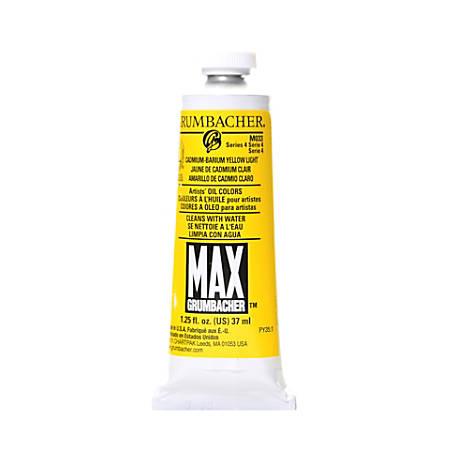 Grumbacher Max Water Miscible Oil Colors, 1.25 Oz, Cadmium Barium Yellow Light