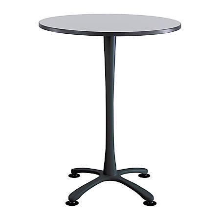 Safco® Cha-Cha X-Base Bistro-Height Table, Gray/Black