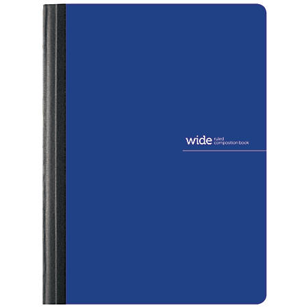 "Office Depot® Brand Poly Composition Book, 7 1/2"" x 9 3/4"", Wide Ruled, 160 Pages (80 Sheets), Blue"