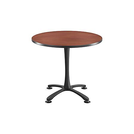 Safco® Cha-Cha X-Base Sitting-Height Table, Cherry/Black